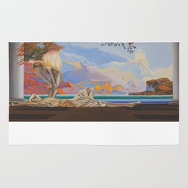 After Maxfield Parrish Rug