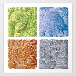 Seasons Art Print