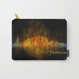 Phoenix Arizona, City Skyline Cityscape Hq v4 Dark Carry-All Pouch