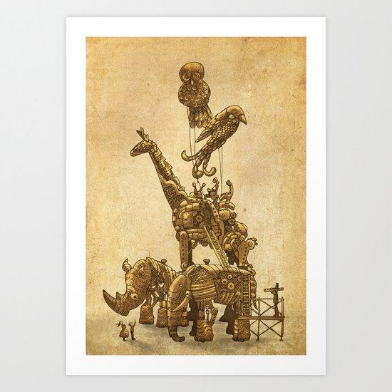 Mechanical Menagerie  Art Print