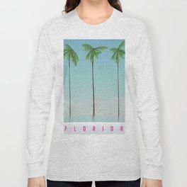 Florida Palms travel poster, Long Sleeve T-shirt