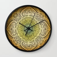 bohemian Wall Clocks featuring Bohemian Lace by Jenndalyn