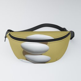Eggs on yellow sheet Fanny Pack