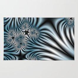 Blue Zebra Fractal Rug