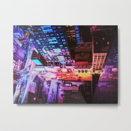 New York City Blade Runner Metal Print