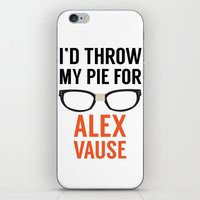 alex vause iPhone & iPod Skins featuring I'd Throw My Pie for Alex Vause by Zharaoh