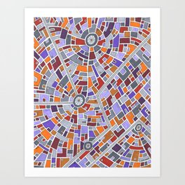 District Z3015 Art Print