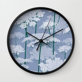 Queen Anne's Lace | Country Blue Wall Clock
