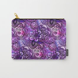 Purple Paisley Vision Carry-All Pouch
