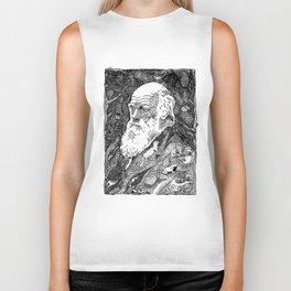 'Darwin' by Sarah King Biker Tank