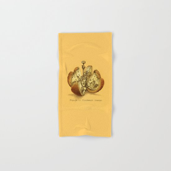 Steampunk Orange Hand & Bath Towel