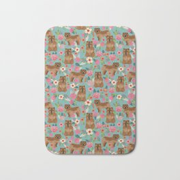 Chow Chow dog breed pet art dog floral pattern gifts for dog lover pet friendly Bath Mat