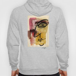 "Funky Face Abstract, ""I See 38"" by Kathy morton Stanion Hoody"