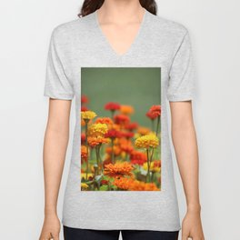 Marigolds Unisex V-Neck