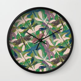 Dancing Dragonflies Wall Clock