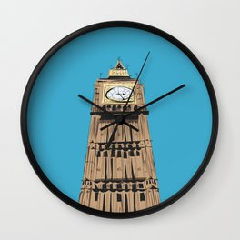 London Big Ben Travel Poster Wall Clock