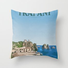 Visit Trapani Throw Pillow