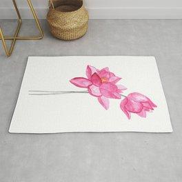 Meditation art print, lotus painting Rug