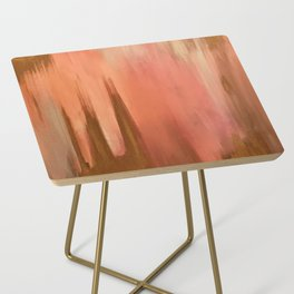 Blush with Gold Abstract Side Table
