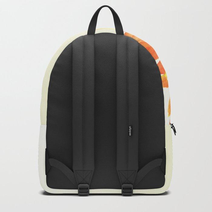 orange gerbera Backpack