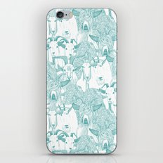 just goats teal iPhone & iPod Skin