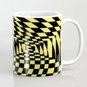 optical visual illusion thinking cloud of black and white chess board tunnel op art  by sofiayoushi