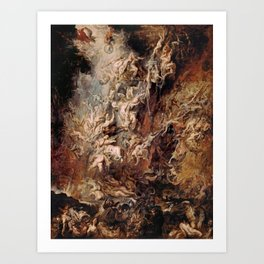 Peter Paul Rubens's The Fall of the Damned Art Print