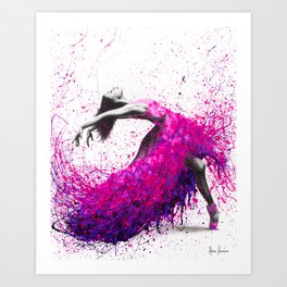 Hot Magenta Dance Art Print