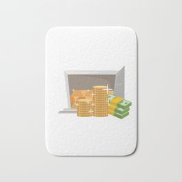 Money In The Bank Bath Mat