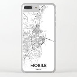 Minimal City Maps - Map Of Mobile, Alabama, United States Clear iPhone Case