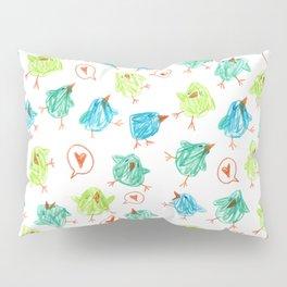Scribble Birds Pillow Sham