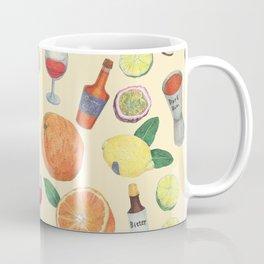 cocktail recipe pattern _ zombie Coffee Mug