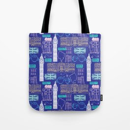 Queen and Country - Blue Tote Bag