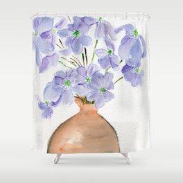 Hepatica  Shower Curtain