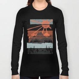 Morning by Bear River... Long Sleeve T-shirt