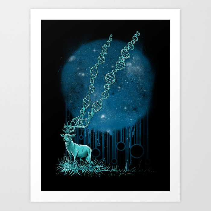 DNA Deer Art Print