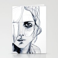 shipping Stationery Cards featuring Sketch V by Holly Sharpe