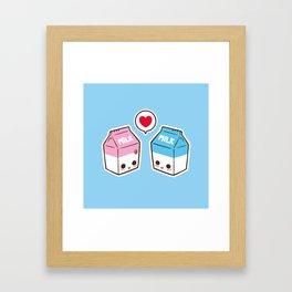 Milks in love Framed Art Print