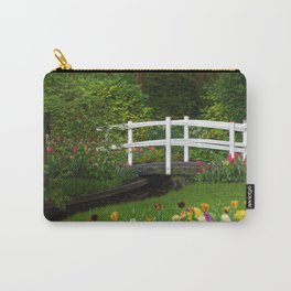 Flowered Bridge Carry-All Pouch