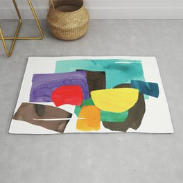 midmod collage Rug