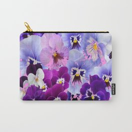 SPRING COLLECTION PURPLE-PINK PANSIES Carry-All Pouch