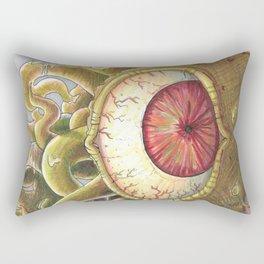 Green-red Beholder Rectangular Pillow