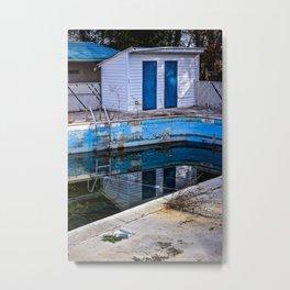 Abandoned Hotel Pool Metal Print