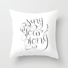 Sing Your Song Throw Pillow
