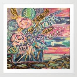 Paradise Florals Art Print