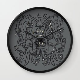 Evil Crabkillbot from Crab Nebula Against Humanity Wall Clock