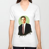 dale cooper V-neck T-shirts featuring Cooper by chazstity