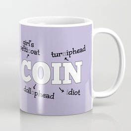 Same Coin - Purple Coffee Mug