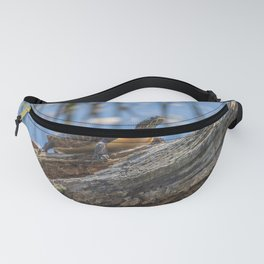 Painted turtle on a log Fanny Pack