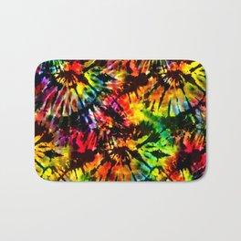 Vivid Psychedelic Hippy Tie Dye Bath Mat
